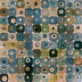 Blauwe abstracte vierkantenachtergrond Stock Fotografie