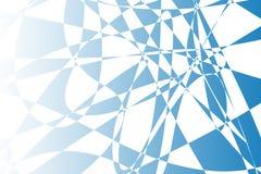 Blauwe abstracte vormenillustratie als achtergrond Stock Afbeeldingen