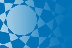 Blauwe abstracte vormenillustratie als achtergrond Royalty-vrije Stock Foto