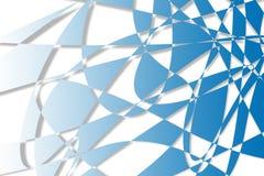Blauwe abstracte vormenillustratie als achtergrond Royalty-vrije Stock Fotografie