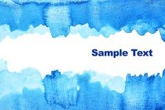 Blauwe abstracte waterverfachtergrond Royalty-vrije Stock Afbeeldingen