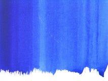 Blauwe abstracte waterverfachtergrond Vector Illustratie