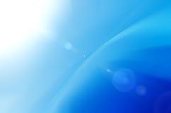 Blauwe abstracte zonneschijnachtergrond Stock Foto
