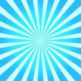 Blauwe abstracte zonnestraalachtergrond Vector illustratie Royalty-vrije Stock Fotografie