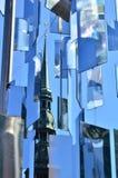 Blauwe abstractie stock foto