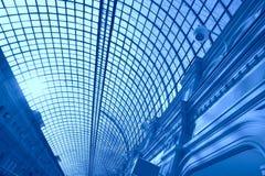 Blauwe abstractie Stock Foto's