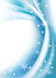 Blauwe achtergrond en sneeuwvlok Royalty-vrije Stock Fotografie