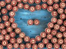 Blauwe achtergrond met aantallen Royalty-vrije Stock Foto