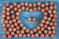 Blauwe achtergrond met aantallen Royalty-vrije Stock Afbeelding