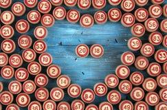 Blauwe achtergrond met aantallen Royalty-vrije Stock Fotografie