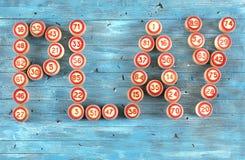 Blauwe achtergrond met aantallen Stock Foto's