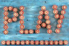 Blauwe achtergrond met aantallen Stock Afbeelding