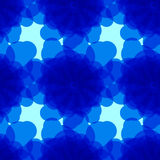 Blauwe achtergrond met abstracte cirkels Stock Foto