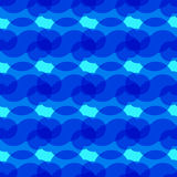 Blauwe achtergrond met abstracte cirkels Royalty-vrije Stock Afbeeldingen