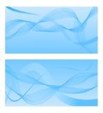 Blauwe achtergrond met abstracte lijnen Vector illustratie Stock Foto