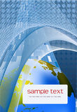 Blauwe achtergrond met bolachtergrond Royalty-vrije Stock Fotografie