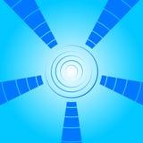 Blauwe achtergrond met cirkelelementen Stock Foto's