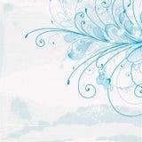Blauwe achtergrond met een patroon Royalty-vrije Stock Foto's