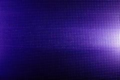 Blauwe achtergrond met een violette schaduw van zwart punt met een witte gloed royalty-vrije stock fotografie