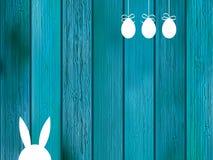 Blauwe achtergrond met exemplaarruimte op hout. + EPS8 Royalty-vrije Stock Foto's