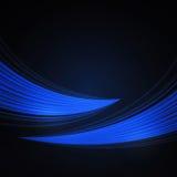 Blauwe achtergrond met golven Royalty-vrije Stock Afbeelding