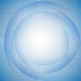 Blauwe achtergrond met halftone royalty-vrije illustratie