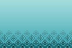 Blauwe achtergrond met lijn van diamanten Stock Afbeeldingen