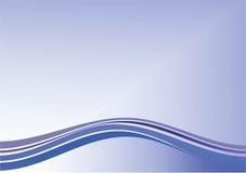 Blauwe achtergrond met lijnen Royalty-vrije Stock Afbeeldingen