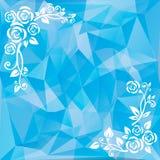 Blauwe achtergrond met patroon Stock Afbeeldingen