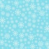 Blauwe achtergrond met sneeuwvlokken Stock Afbeelding