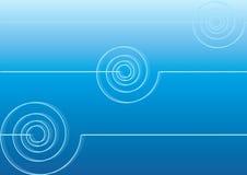 Blauwe achtergrond met spiralen Royalty-vrije Stock Foto's