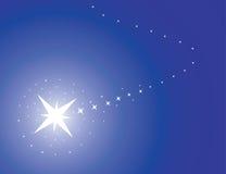 Blauwe achtergrond met ster royalty-vrije illustratie