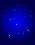 Blauwe achtergrond met sterren vector illustratie
