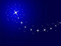 Blauwe achtergrond met sterren stock illustratie