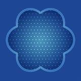 Blauwe achtergrond met streep en stippatroon vector illustratie