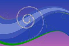 Blauwe achtergrond met vrije ruimte voor uw tekst stock illustratie