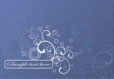 Blauwe achtergrond met wervelingen Royalty-vrije Stock Afbeeldingen