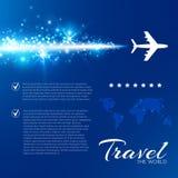 Blauwe achtergrond met witte vliegtuigen Stock Fotografie