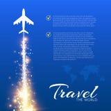 Blauwe achtergrond met witte vliegtuigen Royalty-vrije Stock Afbeelding