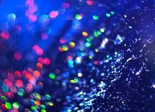Blauwe achtergrond van abstracte schittering stock fotografie