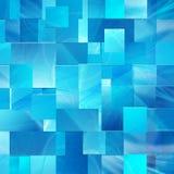 Blauwe achtergrond van de rechthoeken Stock Foto's