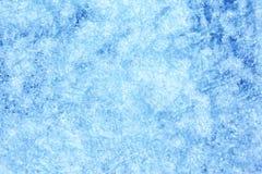 Blauwe achtergrond van Ijstextuur Stock Afbeeldingen