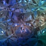 Blauwe Achtergrond van Juwelenhalfedelsteen Stock Fotografie