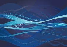 Blauwe achtergrond, vector Royalty-vrije Stock Foto