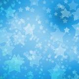Blauwe achtergrond voor groeten met sterren Stock Foto's