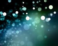 Blauwe achtergrond witte Kerstmislichten Royalty-vrije Stock Foto