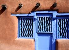 Blauwe Adobe Royalty-vrije Stock Afbeelding
