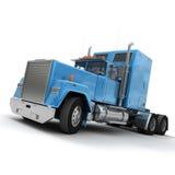 Blauwe Amerikaanse aanhangwagenvrachtwagen vector illustratie