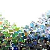 Blauwe & groene beelden Stock Fotografie