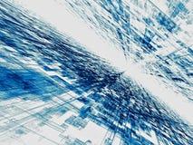 Blauwe annd witte achtergrond - abstract digitaal geproduceerd beeld Stock Foto